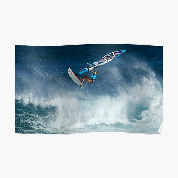 Windsurfing Into The Wind Poster