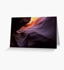 Antelope Canyon Splendor Of The Rock Greeting Card