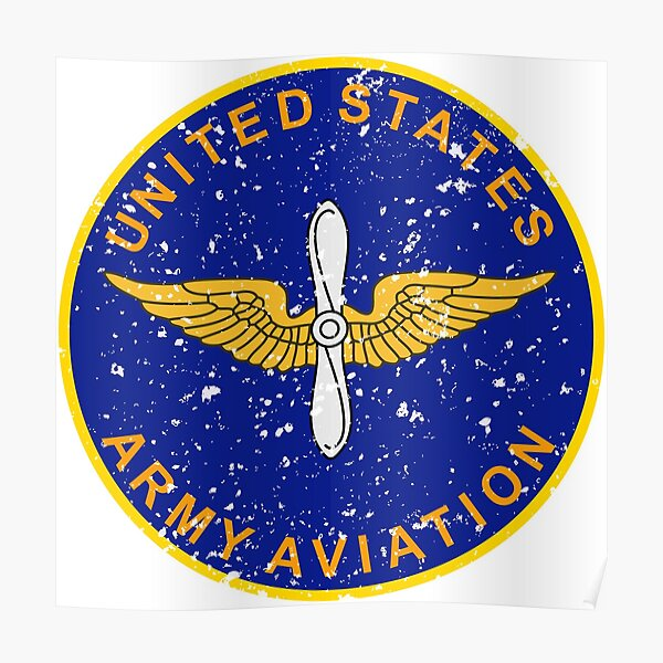 United States Army Aviation Vintage Insignia Poster