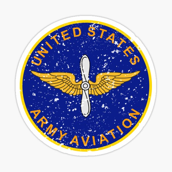 United States Army Aviation Vintage Insignia Sticker