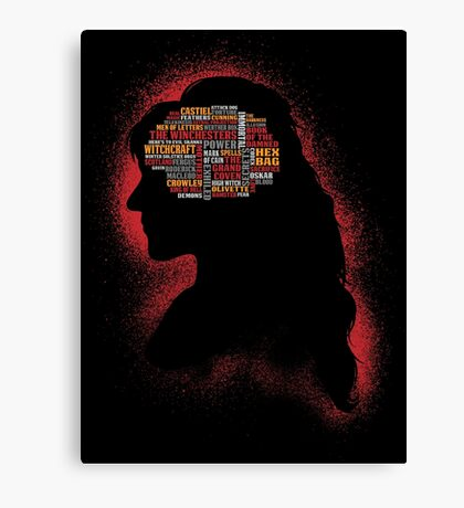 Phrenology of a witch  Canvas Print