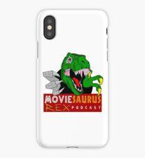 The Moviesaurus Rex Podcast Logo iPhone Case/Skin
