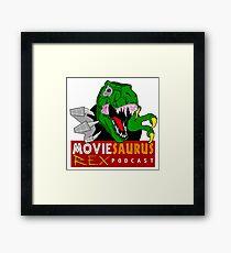 The Moviesaurus Rex Podcast Logo Framed Print