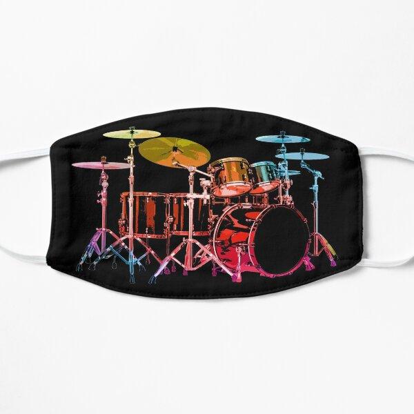 Drum Set (bold digital colors) Flat Mask