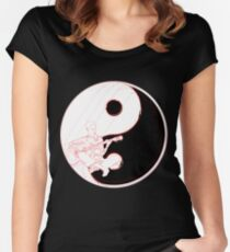 yin yang guitarist  Women's Fitted Scoop T-Shirt
