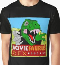 The Moviesaurus Rex Podcast Cover Art Graphic T-Shirt