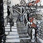 Stairs to Flinders Street (Ascending) by Rich McLean