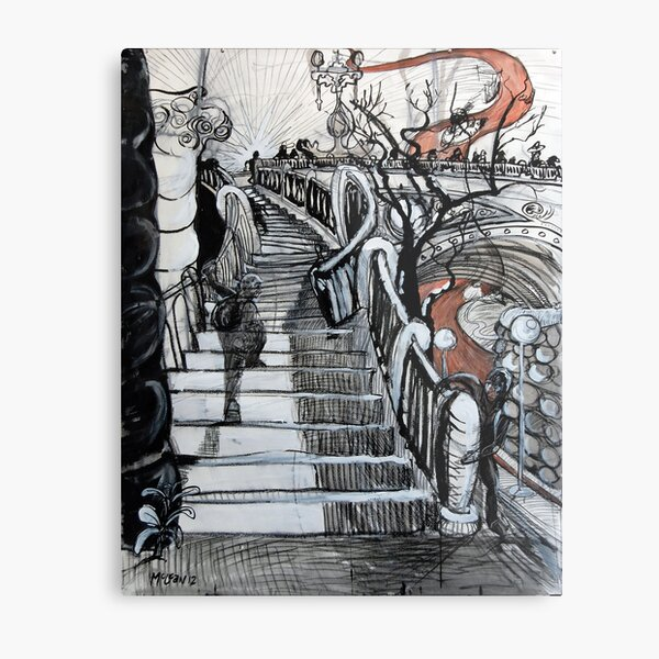 Stairs to Flinders Street (Ascending) Metal Print