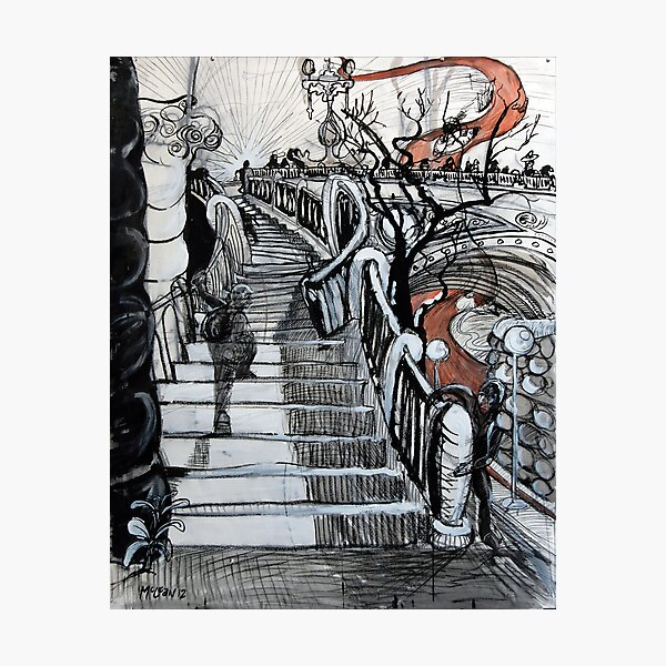 Stairs to Flinders Street (Ascending) Photographic Print