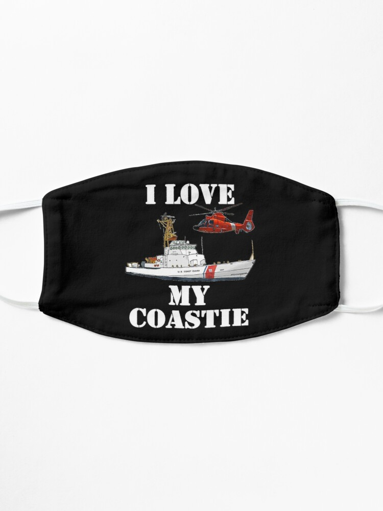 Alternate view of I Love My Coastie Design by MbrancoDesigns Mask