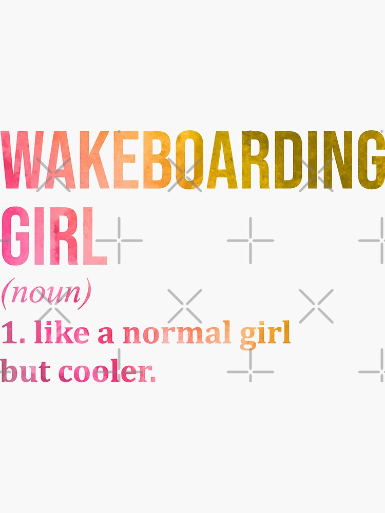 Wakeboarding Girl Funny Quote in Watercolor by DuxDesign