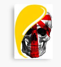 Blond skull! Canvas Print