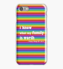 Penny Wong rainbow sticker iPhone Case/Skin