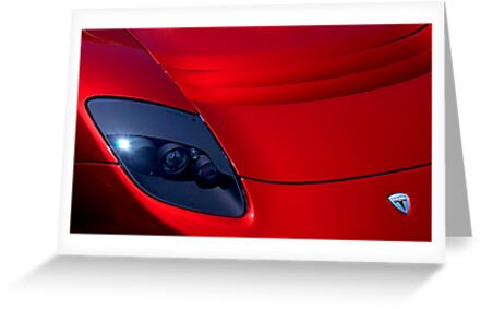 Frighteningly Red Tesla by Bob Wall