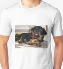 Cute Rottweiler Puppy Being Playful Unisex T-Shirt
