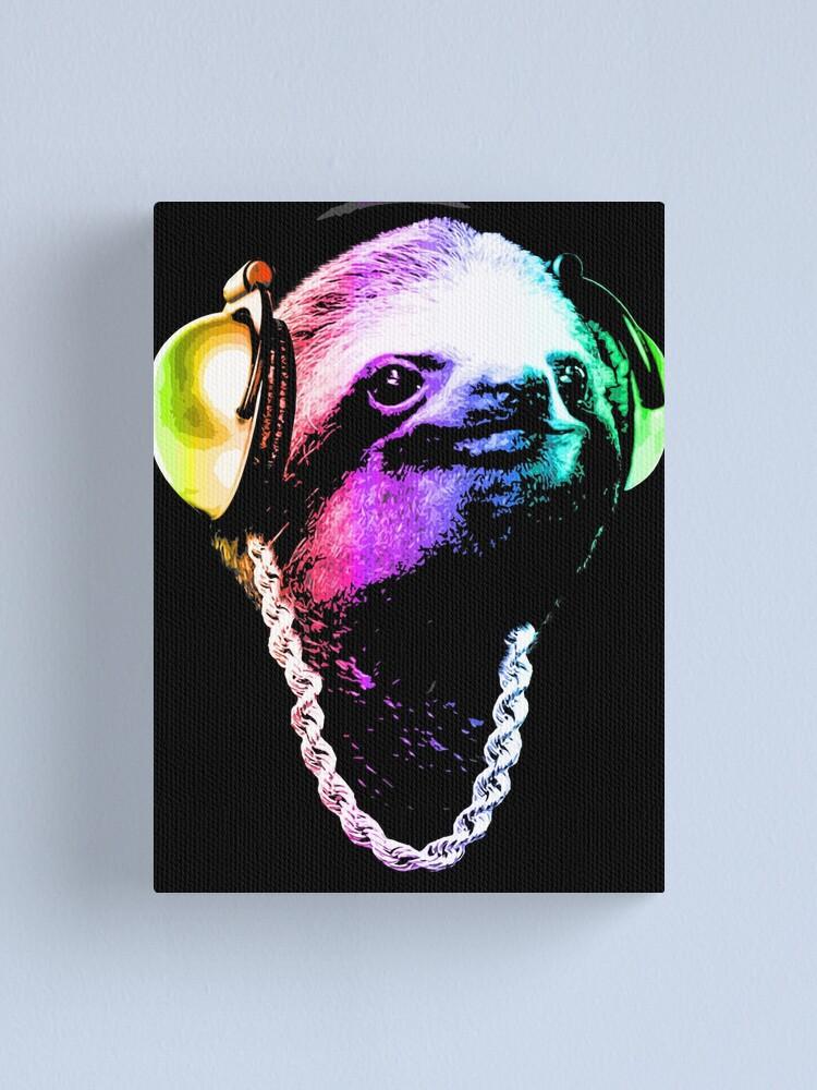 Alternate view of Sloth (Rainbow B-Boy Style) Canvas Print