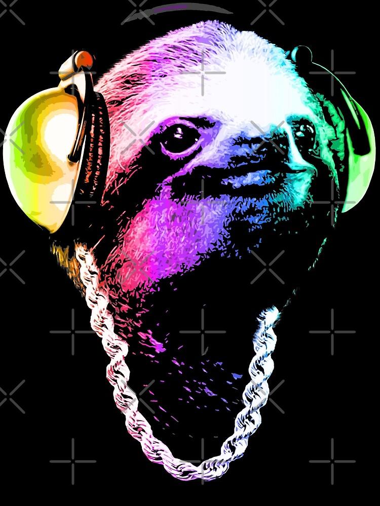 Sloth (Rainbow B-Boy Style) by robotface