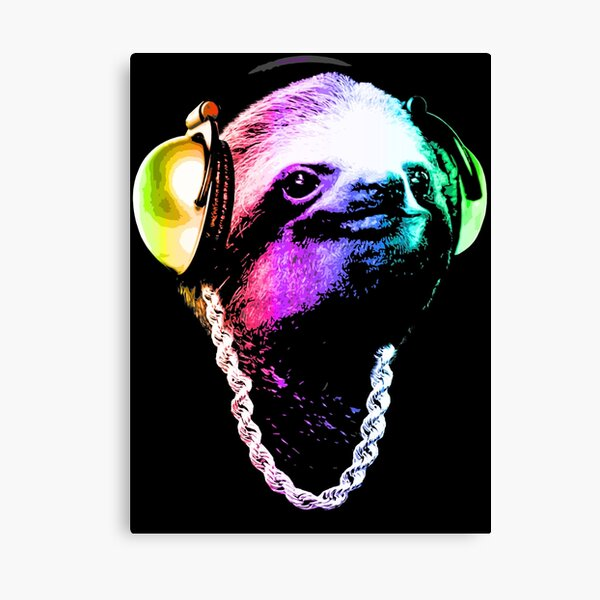 Sloth (Rainbow B-Boy Style) Canvas Print