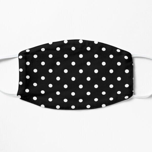 Black and White Polka Dots Flat Mask