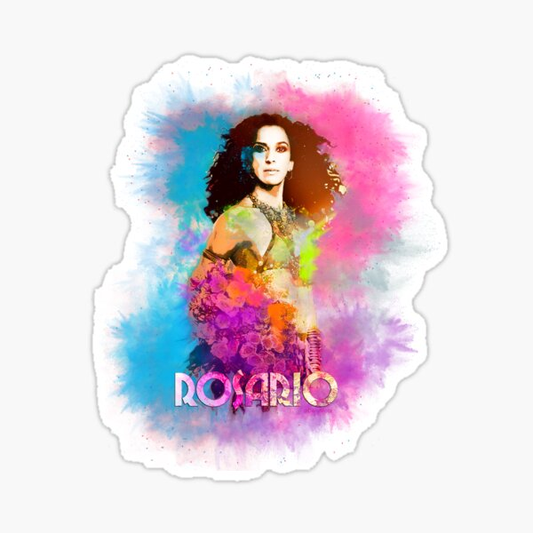"""Rosario Flores """"Many Flowers"""". Sticker"""