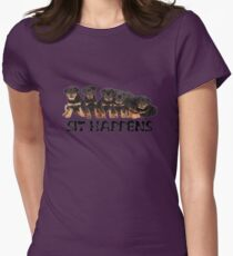 Sit Happens Womens Fitted T-Shirt