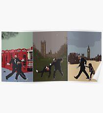 London Matrix triptych Poster
