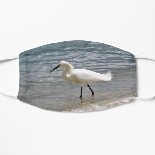 Great Egret Walking the Shorelines Mask