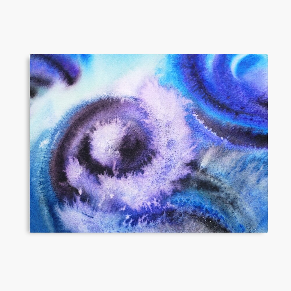 Dancing Water Abstract Painting Canvas Print