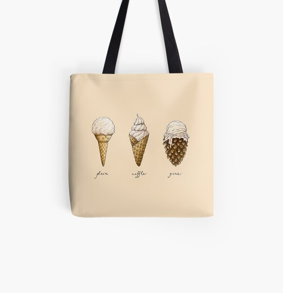Ice-Cream Cones All Over Print Tote Bag