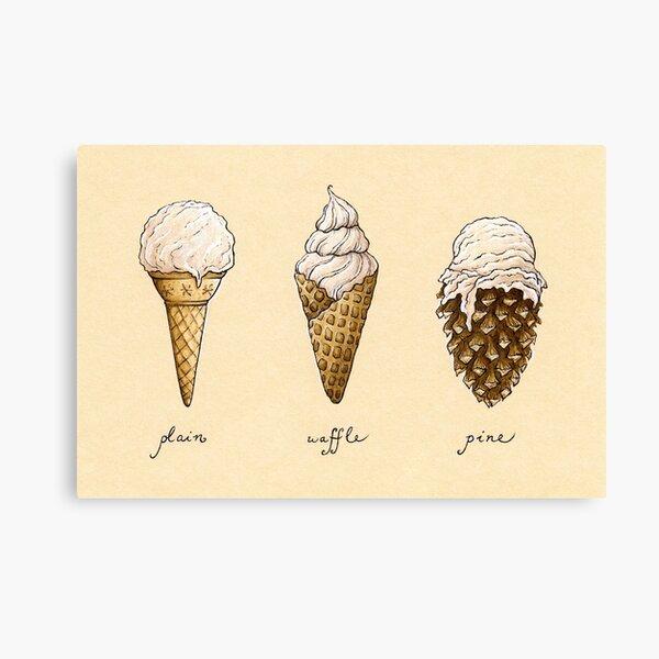 Ice-Cream Cones Canvas Print