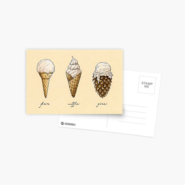 Ice-Cream Cones Postcard