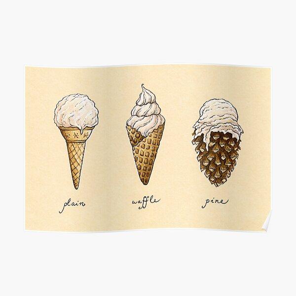Ice-Cream Cones Poster