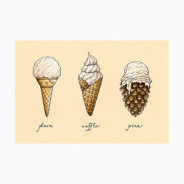 Ice-Cream Cones Photographic Print