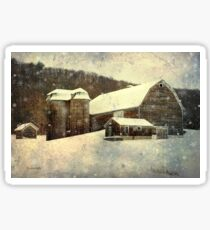 Winter Barn Sticker