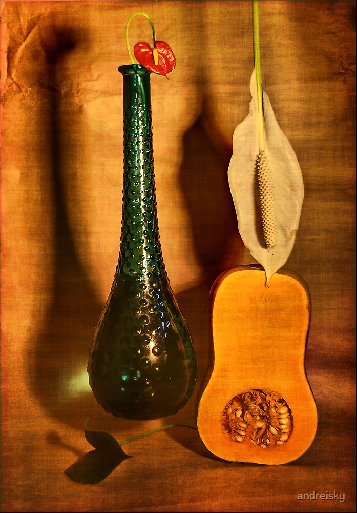 Still life with butternut squash by andreisky