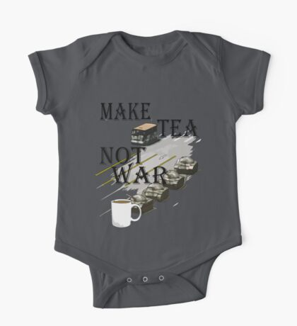 make tea not war Kids Clothes