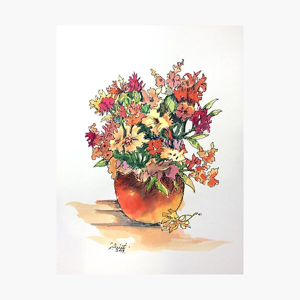 Flower Pot #1 Photographic Print