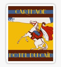 Vintage style 1920s Carthage travel advertising  Sticker