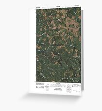 USGS Topo Map Washington State WA East of Raymond 20110406 TM Greeting Card