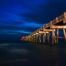 Panama City Pier At Night by Chris Ferrell