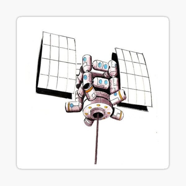 Counterweight Space Station 001 Sticker