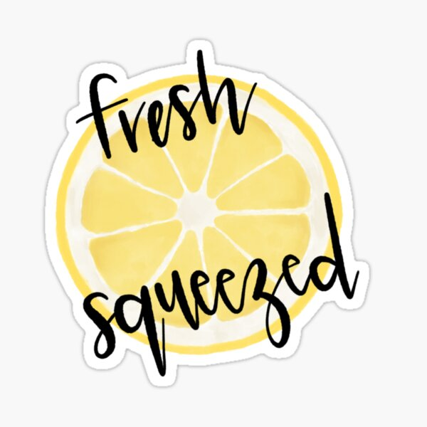 Fresh Squeezed lemon slice Sticker