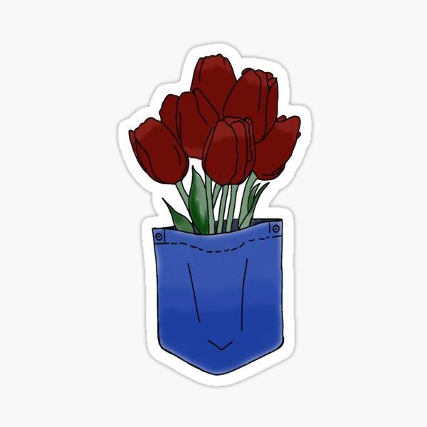 pocket of tulips Sticker