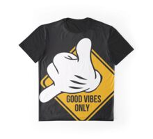 Good Vibes - Hang Loose Fingers Graphic T-Shirt