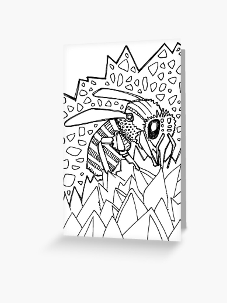 - Western Honey Bee, Coloring Book Page