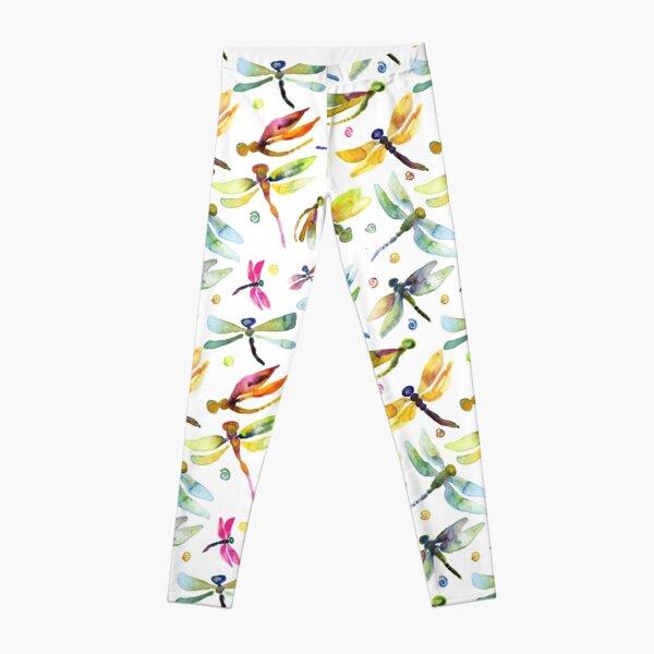 Dragonfly Brights Watercolor Leggings