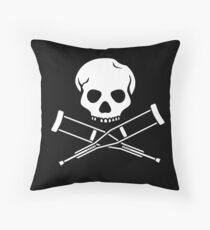 Try, try, try. Extreme sports SKULL Throw Pillow