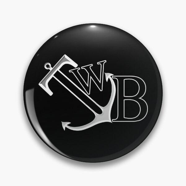 TWB anchor logo on black Pin
