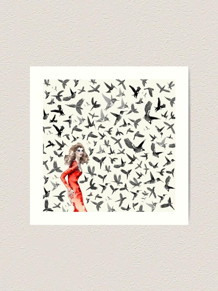 Alternate view of Barcelona Summer Bird Lady  Art Print