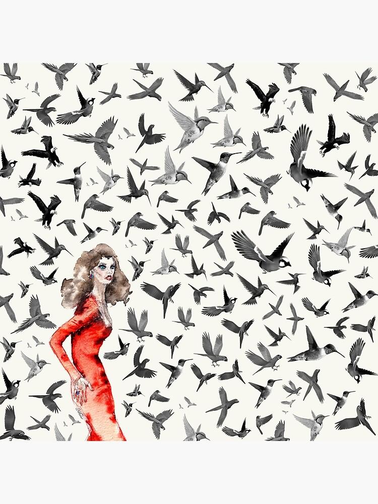 Barcelona Summer Bird Lady  by notsniwart